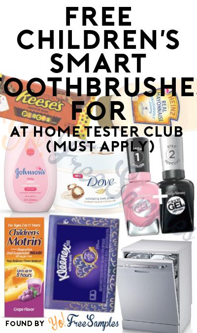 FREE Children's Smart Toothbrushes For At Home Tester Club (Must Apply)