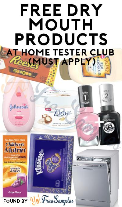 FREE Dry Mouth Lozenges & Gum At Home Tester Club (Must Apply)