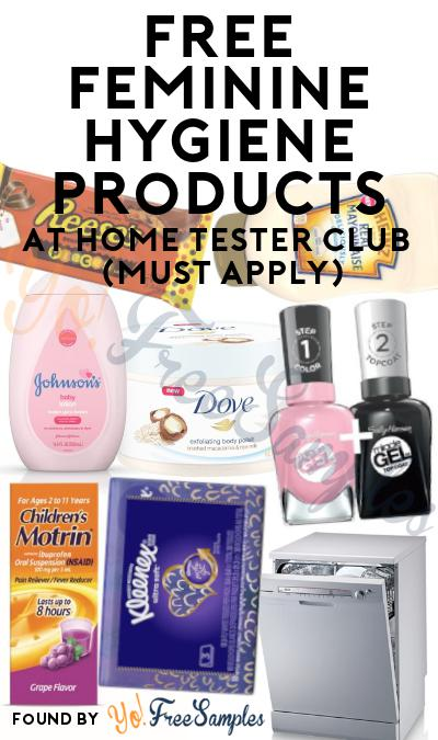 FREE Feminine Hygiene Products At Home Tester Club (Must Apply)