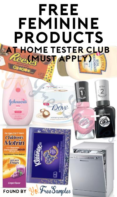 FREE Feminine Cleansing Wipes & Other Feminine Products At Home Tester Club (Must Apply)