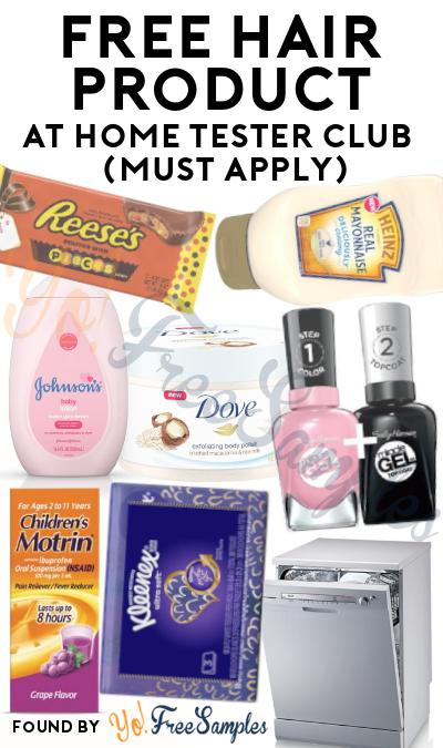 FREE Hair Product At Home Tester Club (Must Apply)
