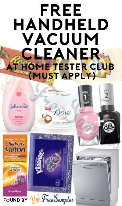 FREE Handheld Vacuum Cleaner At Home Tester Club (Must Apply)