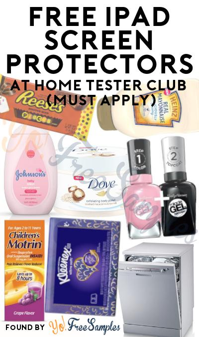 FREE iPad Screen Protector At Home Tester Club (Must Apply)