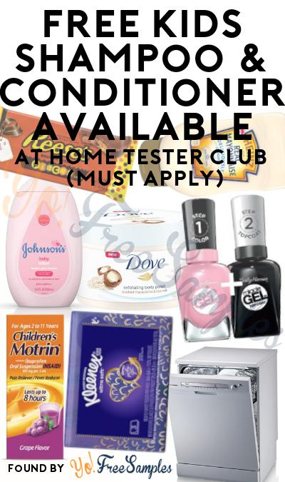 FREE Kids Shampoo & Conditioner At Home Tester Club (Must Apply)