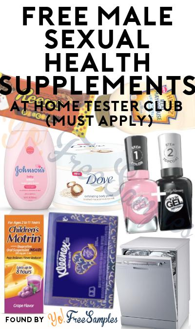 FREE Male Sexual Health Supplements At Home Tester Club (Must Apply)