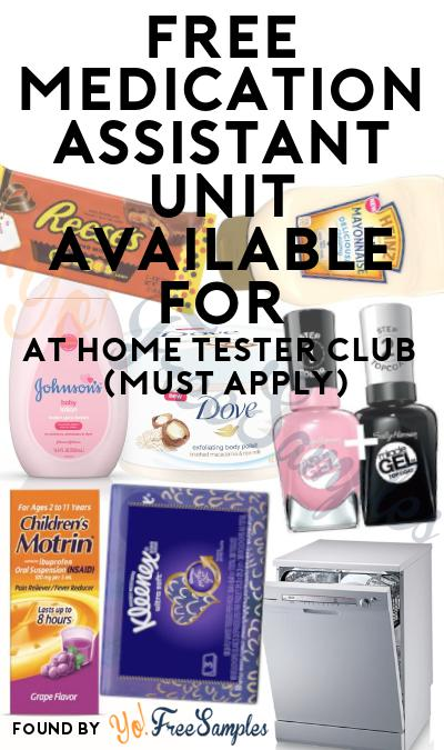 FREE Medication Assistant Unit At Home Tester Club (Must Apply)