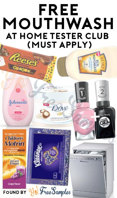 FREE Mouthwash or Mouthwash Tablets At Home Tester Club (Must Apply)