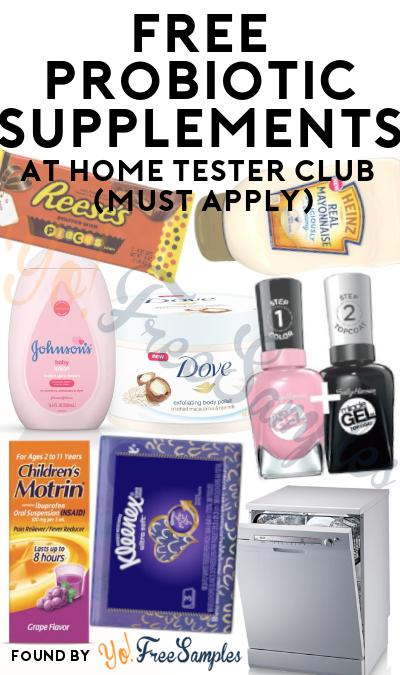 FREE Probiotic Supplements At Home Tester Club (Must Apply)
