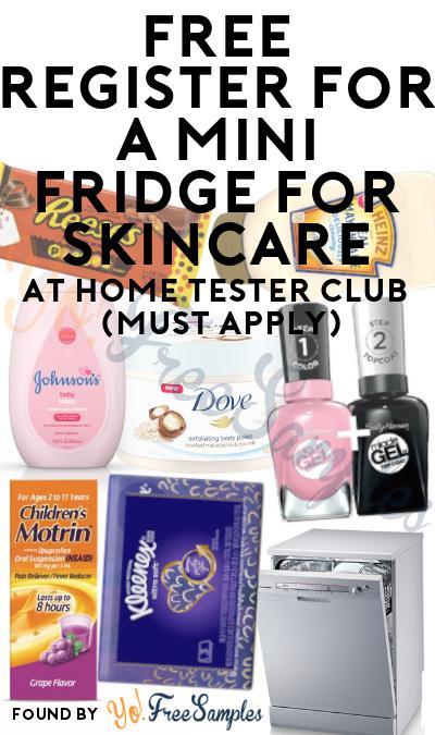 FREE Skincare Mini Fridge At Home Tester Club (Must Apply)