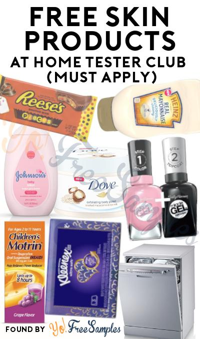 FREE Skin Care Products At Home Tester Club (Must Apply)