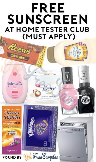 FREE Various Sunscreen Products At Home Tester Club (Must Apply)