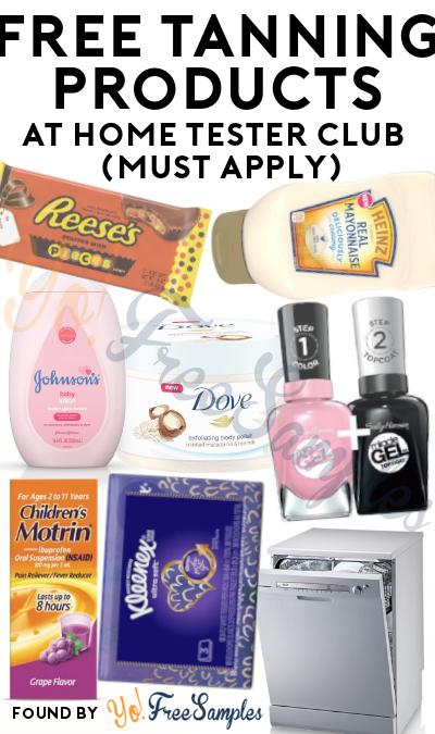 FREE Tanning Products At Home Tester Club (Must Apply)