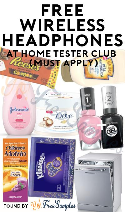 FREE Wireless Headphones At Home Tester Club (Must Apply)