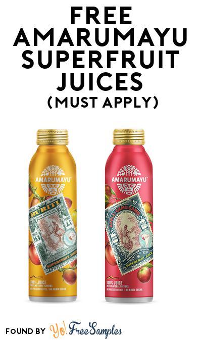FREE AMARUMAYU Superfruit Juices (Mom Ambassador Membership Required)