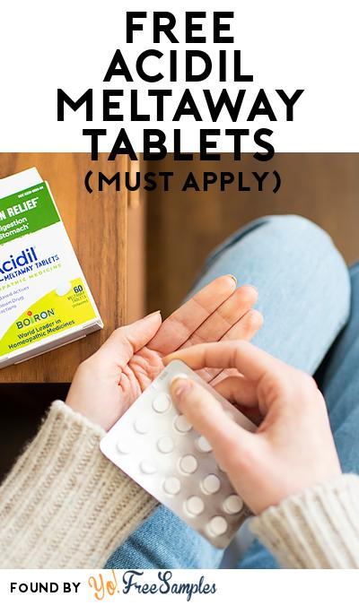 FREE Acidil Meltaway Tablets (Mom Ambassador Membership Required)