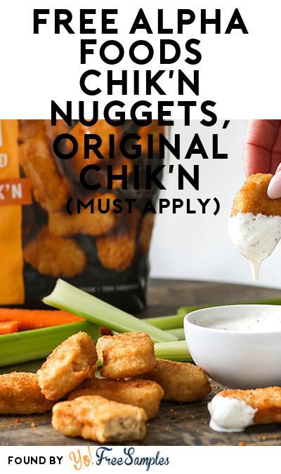 FREE Alpha Foods Chik'n Nuggets, Original Chik'n (Mom Ambassador Membership Required)