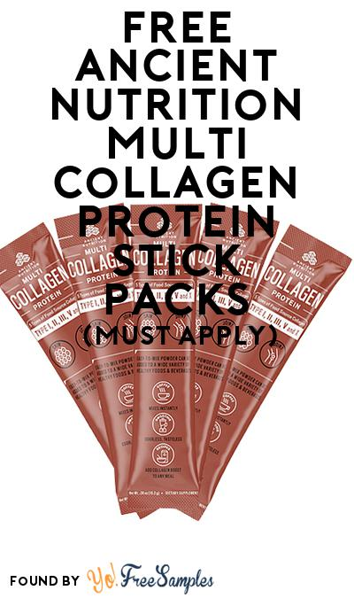 FREE Ancient Nutrition Multi Collagen Protein Stick Packs (Mom Ambassador Membership Required)