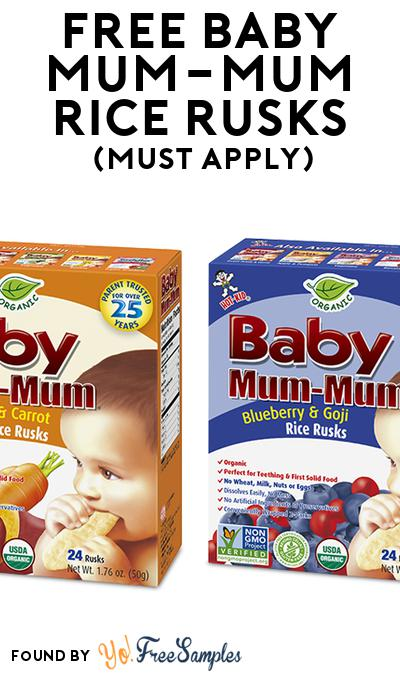FREE Baby Mum-Mum Rice Rusks (Mom Ambassador Membership Required)