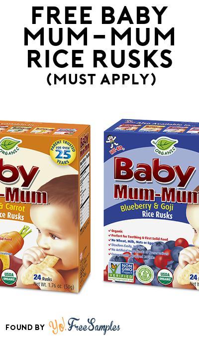 FREE Baby Mum-Mum Rice Rusks (Mom Ambassador Membership Required)