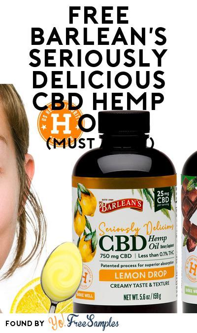 FREE Barlean's Seriously Delicious CBD Hemp Oil (Mom Ambassador Membership Required)