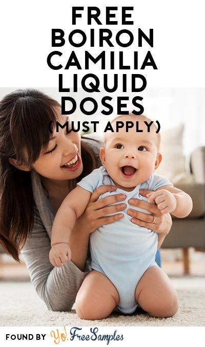 FREE Boiron Camilia Liquid Doses (Mom Ambassador Membership Required)