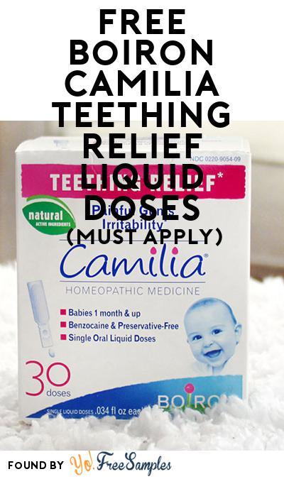 FREE Boiron Camilia Teething Relief Liquid Doses (Mom Ambassador Membership Required)