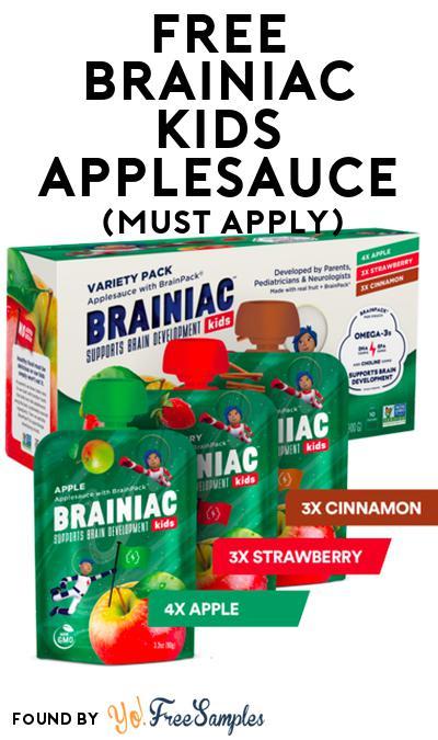 FREE Brainiac Kids Applesauce (Mom Ambassador Membership Required)