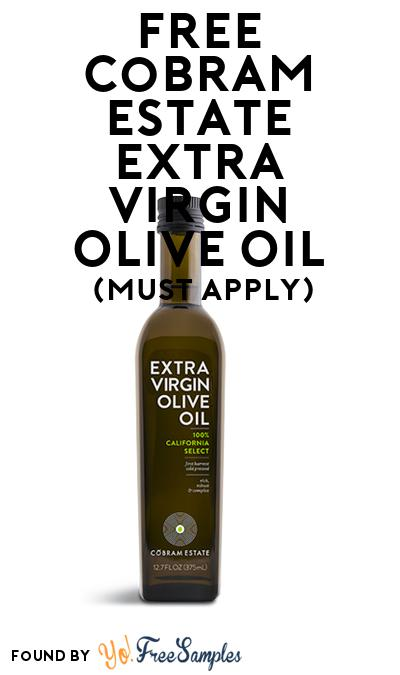 FREE Cobram Estate Extra Virgin Olive Oil (Mom Ambassador Membership Required)