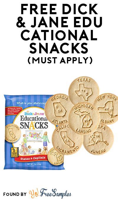 FREE Dick & Jane Educational Snacks (Mom Ambassador Membership Required)