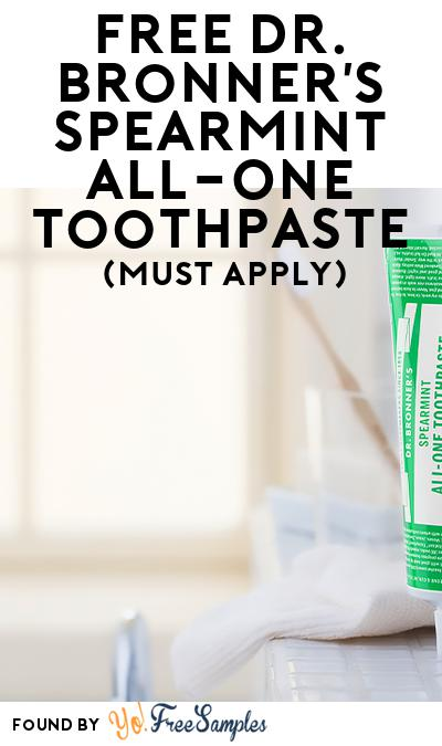FREE Dr. Bronner's Spearmint All-One Toothpaste (Mom Ambassador Membership Required)