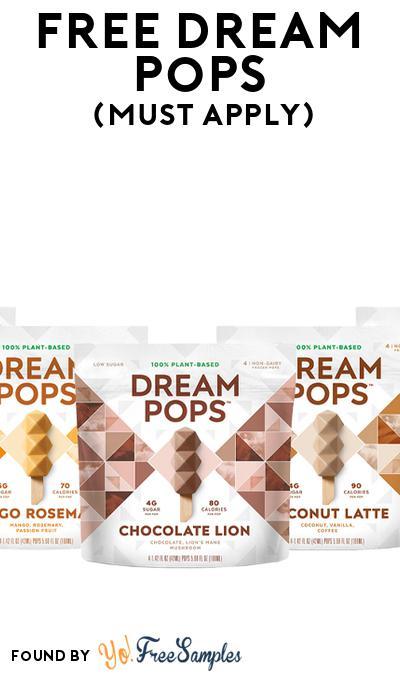 FREE Dream Pops (Mom Ambassador Membership Required)