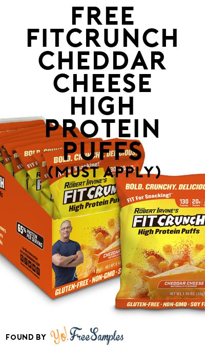 FREE FITCRUNCH Cheddar Cheese High Protein Puffs (Mom Ambassador Membership Required)