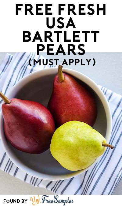 FREE Fresh USA Bartlett Pears (Mom Ambassador Membership Required)