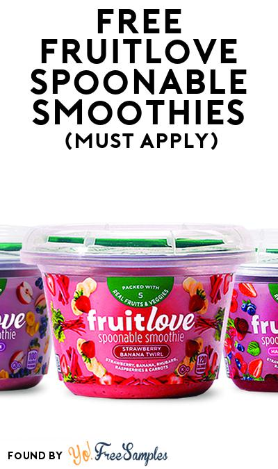 FREE Fruitlove Spoonable Smoothies (Mom Ambassador Membership Required)