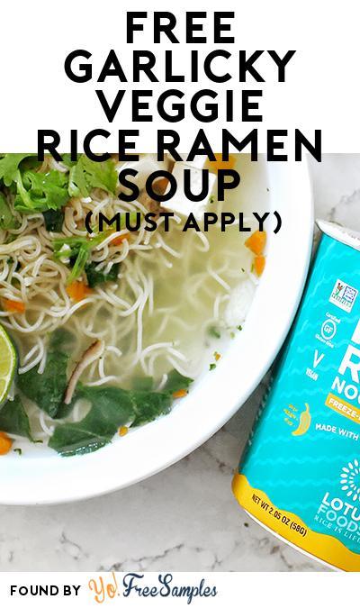 FREE Garlicky Veggie Rice Ramen Soup (Mom Ambassador Membership Required)