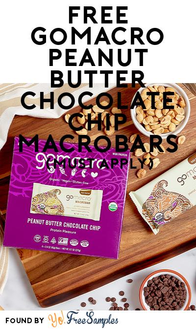 FREE GoMacro Peanut Butter Chocolate Chip MacroBars (Mom Ambassador Membership Required)