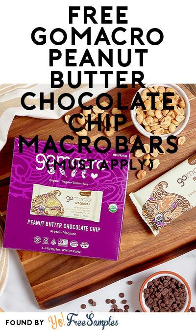 FREE GoMacro Peanut Butter Chocolate Chip MacroBars (Mom Ambassador Membership Required)
