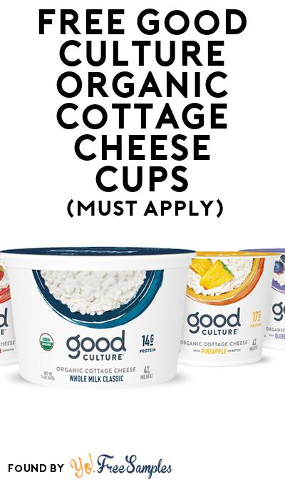 FREE Good Culture Organic Cottage Cheese Cups (Mom Ambassador Membership Required)