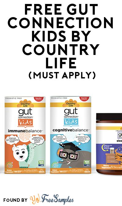 FREE Gut Connection Kids by Country Life (Mom Ambassador Membership Required)