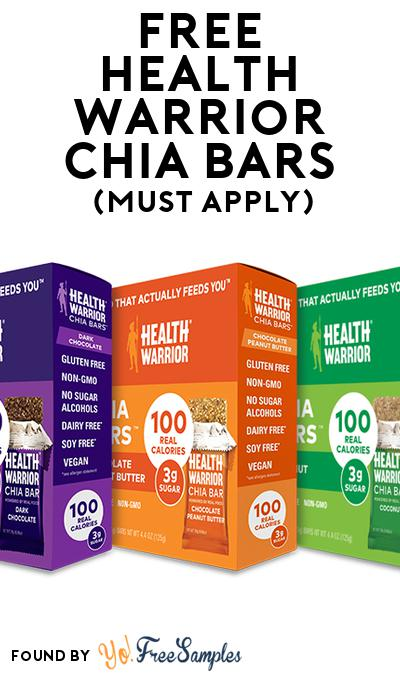 FREE Health Warrior Chia Bars (Mom Ambassador Membership Required)