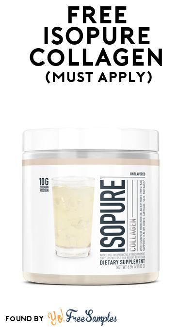 FREE ISOPURE Collagen (Mom Ambassador Membership Required)