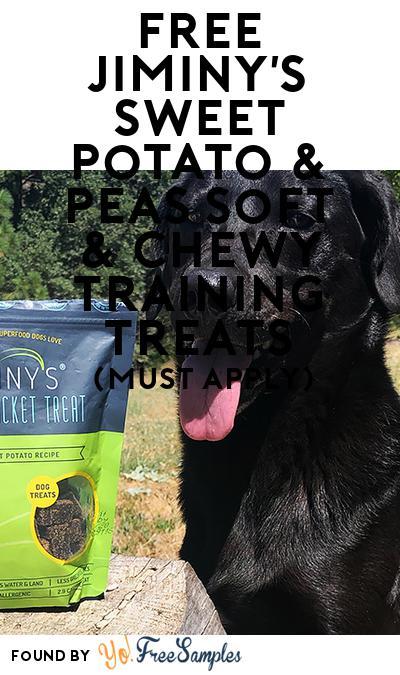 FREE Jiminy's Sweet Potato & Peas Soft & Chewy Training Treats (Mom Ambassador Membership Required)