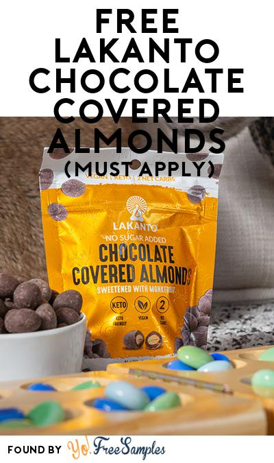 FREE Lakanto Chocolate Covered Almonds (Mom Ambassador Membership Required)