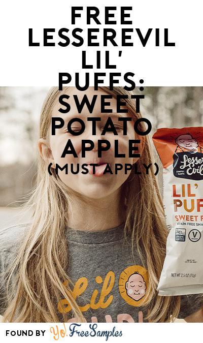 FREE LesserEvil Lil' Puffs: Sweet Potato Apple (Mom Ambassador Membership Required)