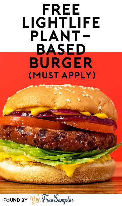 FREE Lightlife Plant-Based Burger (Mom Ambassador Membership Required)