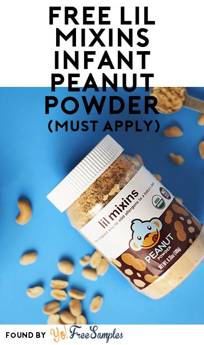 FREE Lil Mixins Infant Peanut Powder (Mom Ambassador Membership Required)