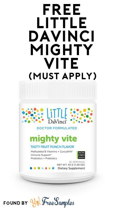 FREE Little DaVinci mighty vite (Mom Ambassador Membership Required)