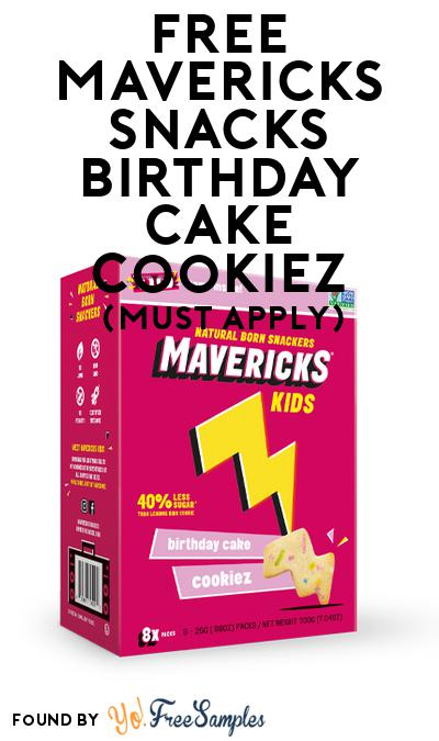 FREE Mavericks Snacks Birthday Cake Cookiez (Mom Ambassador Membership Required)