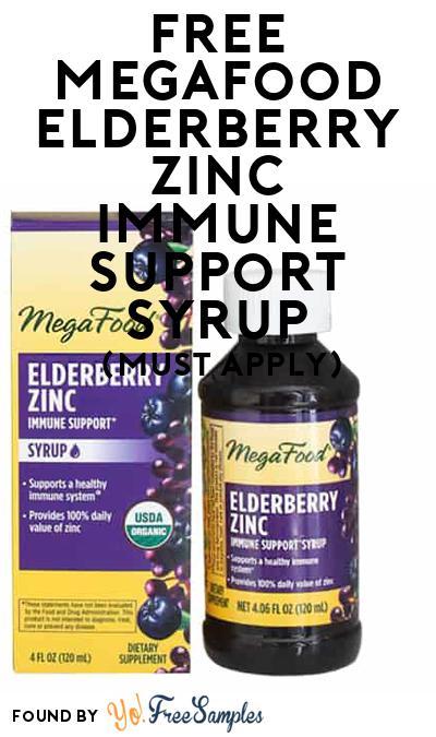FREE MegaFood Elderberry Zinc Immune Support Syrup (Mom Ambassador Membership Required)