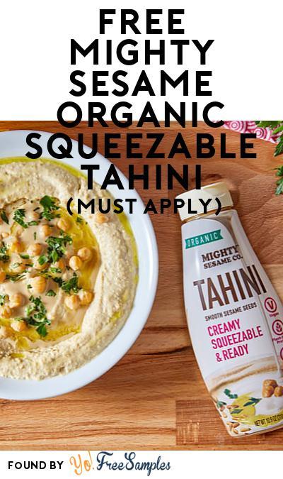 FREE Mighty Sesame Organic Squeezable Tahini (Mom Ambassador Membership Required)